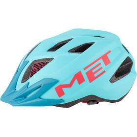 MET Crackerjack Kask rowerowy Dzieci, light blue/magenta
